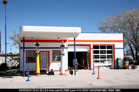 route 66 gas station panoramio photo of route 66 arizona williams old
