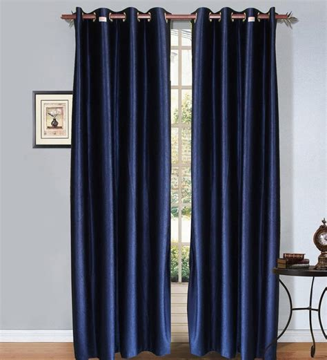 Midnight Blue Curtains Designs S Midnight Blue Coloured Set Of 4 Plain Eyelet Curtain 7 By S