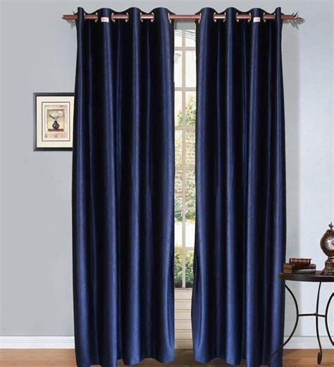 midnight blue curtains christy s midnight blue coloured set of 4 plain eyelet