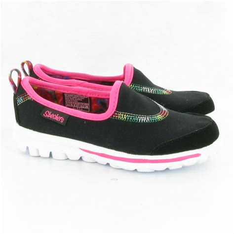 skechers go walk sandals skechers 81020 go walk shoes in black multi