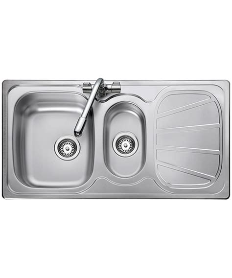 rangemaster kitchen sinks rangemaster baltimore 1 5 bowl stainless steel sink reversible