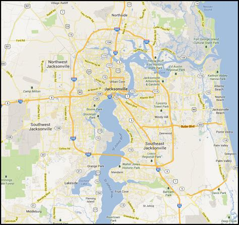 jacksonville fl map map of jacksonville pictures to pin on pinsdaddy