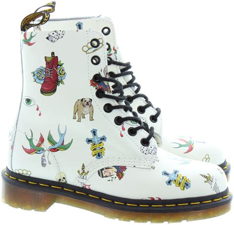 tattoo creams boots dr martens pascal tattoo boots in off white in off white