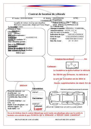 Fin De Contrat De Location 4183 by Contrat Location Auto