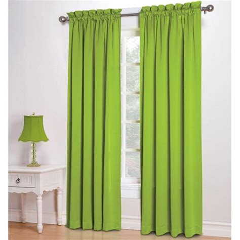 curtains with lime green 63 quot long kylee lime green room darkening rod pocket
