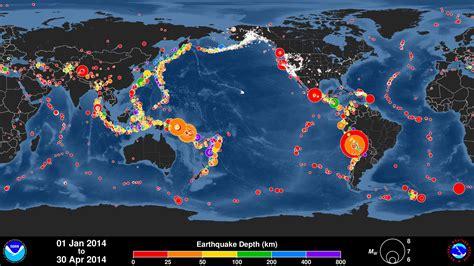 earthquake world global earthquake animation january april 2014 youtube