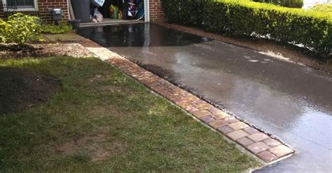Do I Need Planning Permission For A Concrete Sectional Garage by Decorative Paver Driveway Extension Using Concrete Base