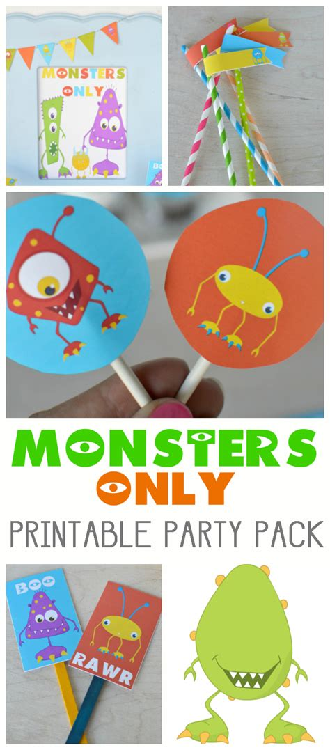 free printable monster birthday decorations school checklist printable pretty providence