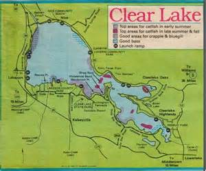 california fishing map 2017 clear lake fishing map fishing report and where to