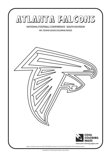 nfl symbols coloring pages cool coloring pages atlanta falcons nfl american