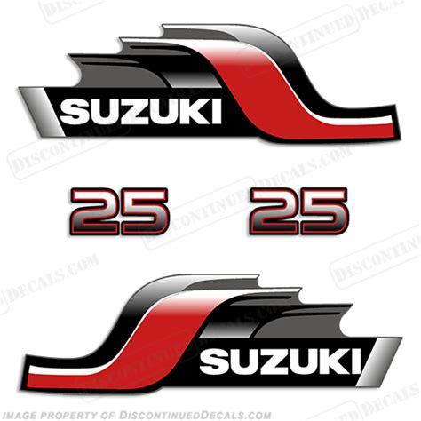 Suzuki Decal Kit Suzuki Dt25 25hp Decal Kit 1999