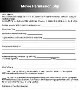 permission slip templates free download creativetemplate