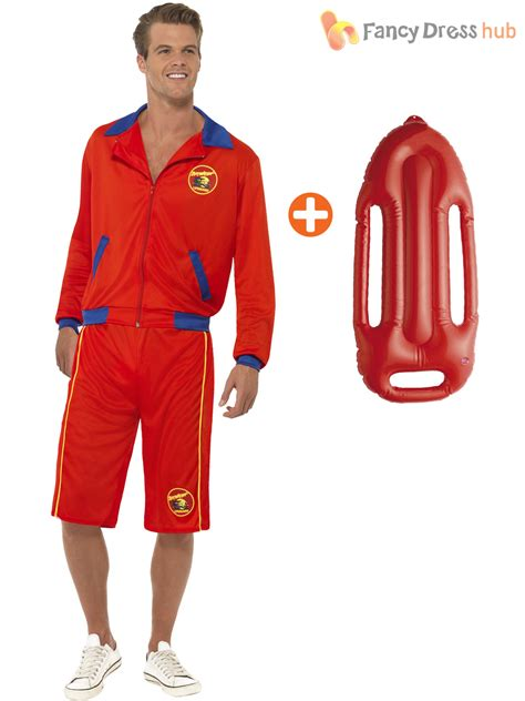 90s fancy dress costumes ebay mens baywatch costume float lifeguard sports uniform