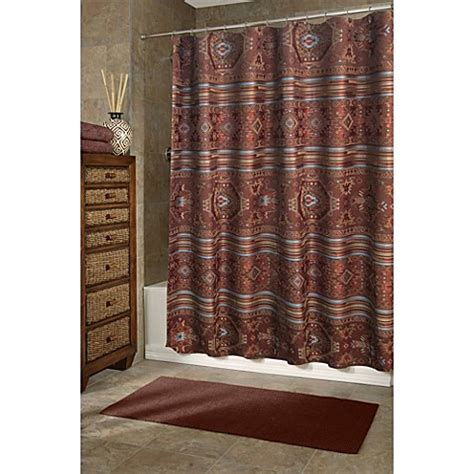 Southwestern Style Curtains Veratex Pueblo 72 Inch X 75 Inch Shower Curtain Bed Bath Beyond
