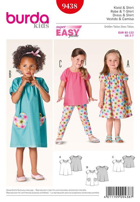 download pattern burda burda 9438 toddlers