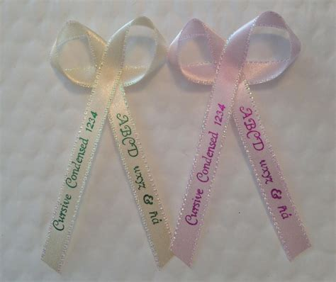 Baby Shower Favor Ribbons by 100 Personalized Printed Ribbons For Wedding Baby Shower