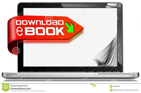 book free download electronic book with arrow download vector illustration