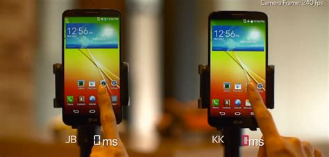 Hp Lg Jelly Bean lg posts up side by side comparison of the g2 running kit and jelly bean droid