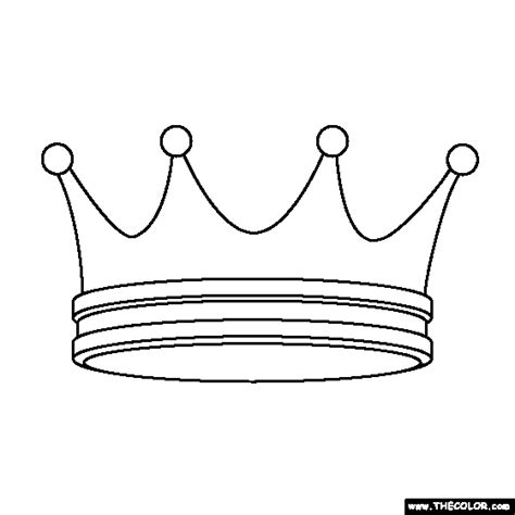 crown color prince and princess coloring pages page 1