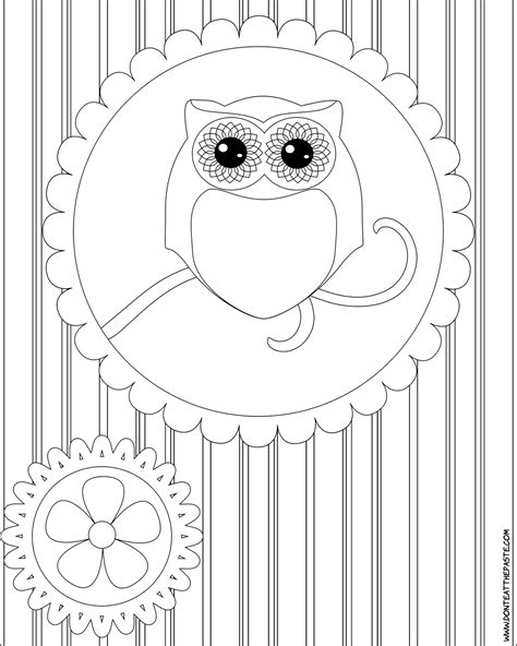 coloring pages of big owl don t eat the paste october 2011