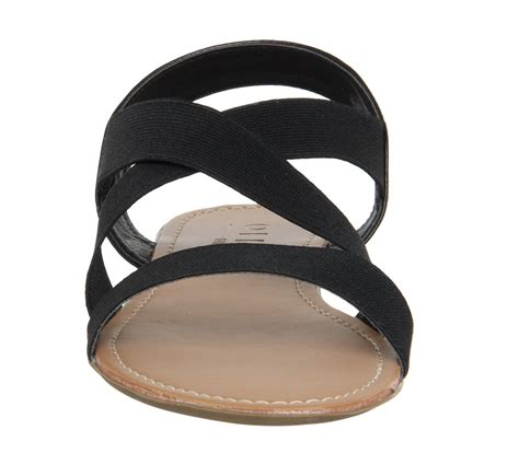 elastic sandals office orbit elastic sandals in black lyst