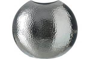 vase boule argent 27 x 26 cm suede vase pas cher
