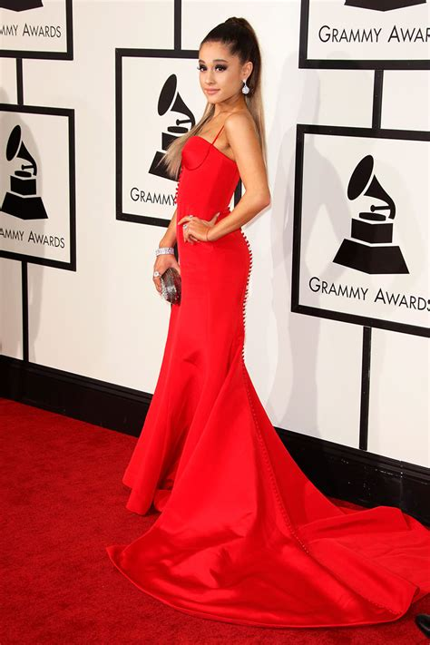 what does ariana grande wear to a party ariana grande red mermaid celebrity evening prom dress