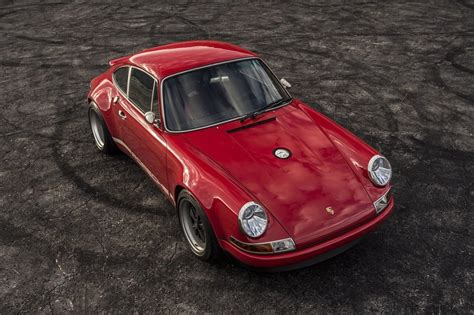 singer porsche red this restomod porsche 911 is a rocket in red airows