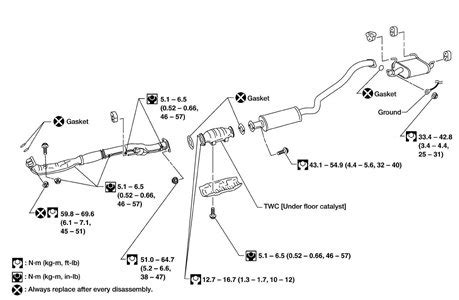 2001 nissan sentra exhaust system diagram 2002 nissan sentra gxe 1 8ltr trying to replace fixya