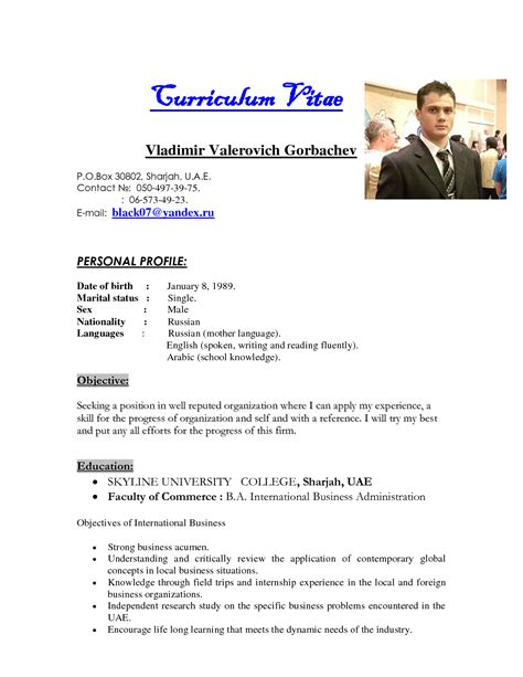 biography exles for cv best photos of sle resume biography template bio