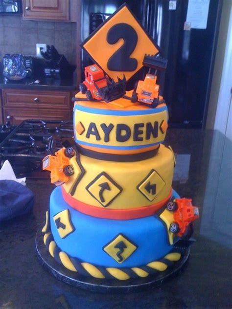 construction 2nd birthday cake construction theme 2nd birthday cake custom cakes