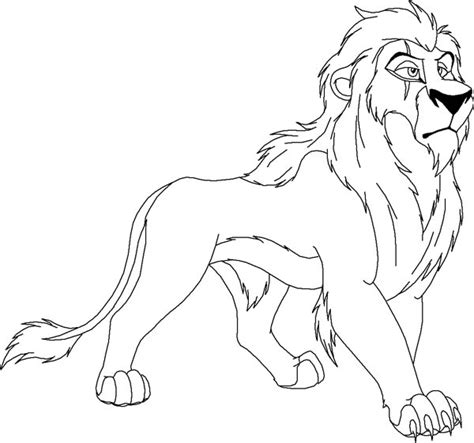 scar from the lion king coloring page color luna