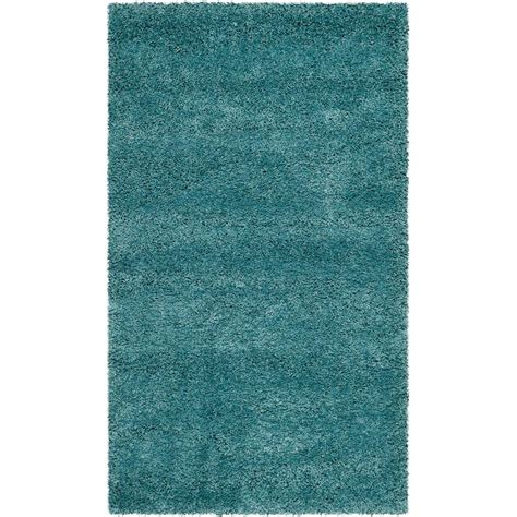aqua shag rug safavieh milan shag aqua blue 5 ft 1 in x 8 ft area rug sg180 6060 5 the home depot