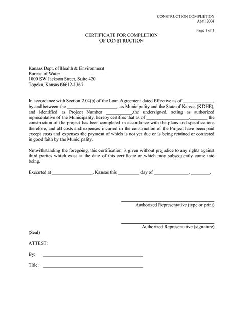 Contract Completion Letter Format Best Photos Of Construction Completion Form Sle Certificate Of Completion Construction
