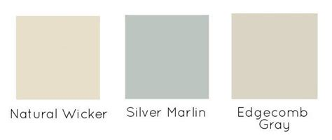 benjamin silver marlin wicker and edgecomb gray for the home