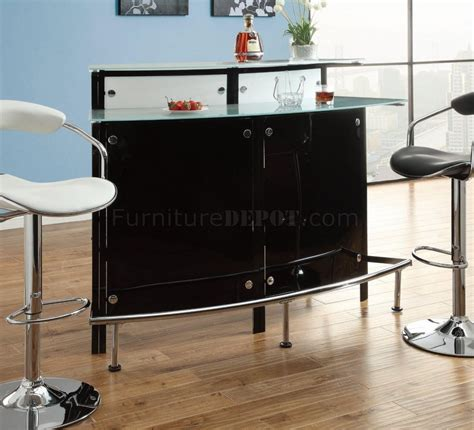 frosted bar top 100139 bar unit in black by coaster w frosted glass top