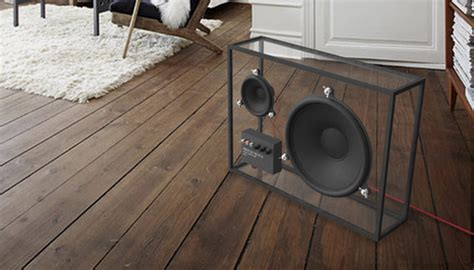 speaker housing design beautiful transparent speaker with sustainable designs home design and interior