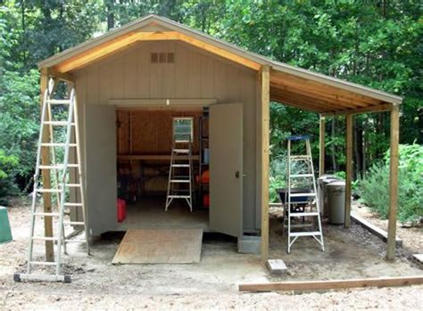 wood lean  shed plans sheds pinterest woods