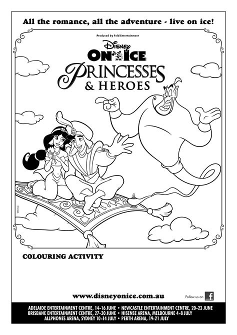 free coloring pages of disney on ice