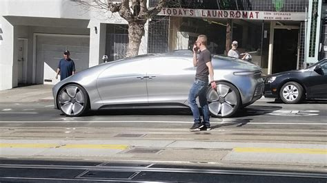mercedes driving spotted mercedes self driving car in san francisco