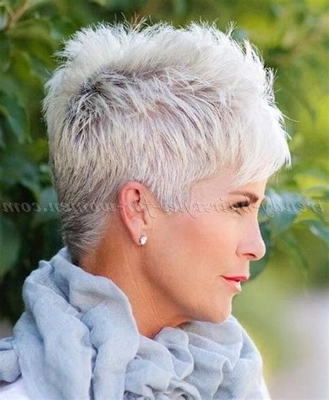 short gradient grey hairstyles for women over 50 20 inspirations of short hairstyles for grey haired woman