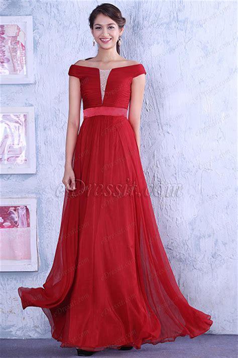 Abendkleider Hochzeit by Wunderbares Rot Unter Schulter Abendkleid Langes Hochzeit