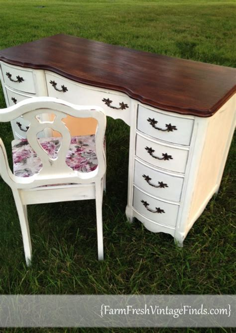 farm fresh service desk french provincial desk in old white farm fresh vintage finds