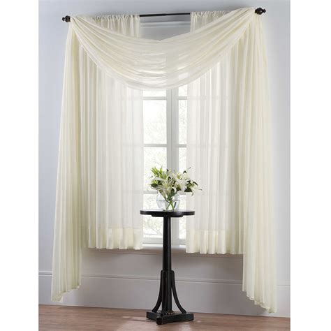 window drapes smart sheer insulating voile window curtain panel house