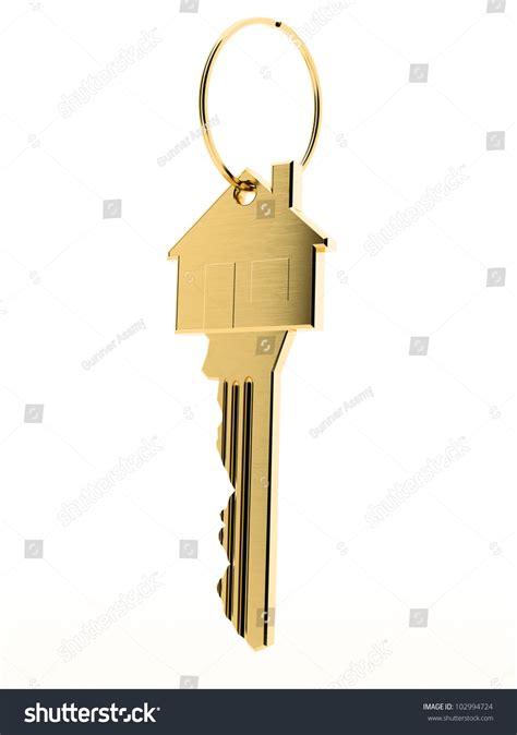 Front Door Key Golden Latchkey Front Door Key On Stock Illustration 102994724