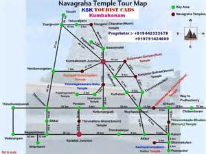 temple map navagraha temple tour map kumbakonam