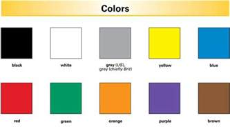 colors starting with a color definition for language learners from