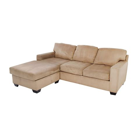 chaise sectionals 75 off max home max home tan sectional chaise sofa sofas
