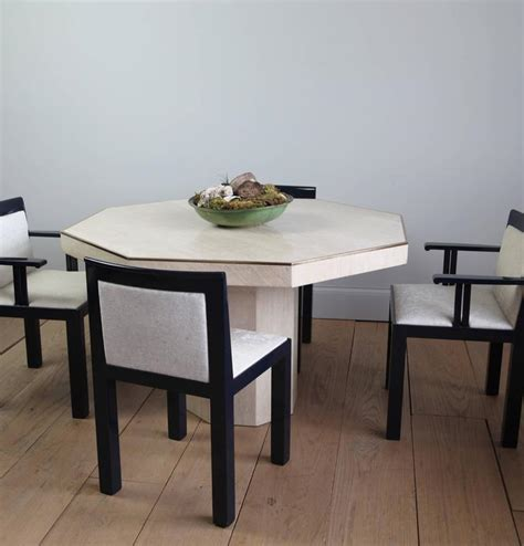 octagon dining room table octagonal travertine italian dining table at 1stdibs