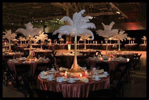 Rent Ostrich Feather Centerpieces Spandex Vases And L Wedding Reception Centerpiece Rentals
